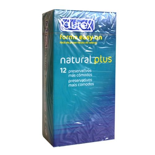 PRESERVA.DUREX NATURAL PLUS EASY ON 12U.